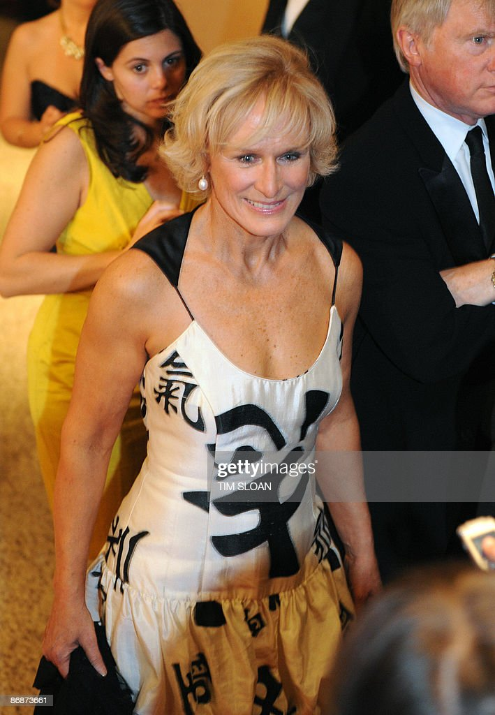 US actress Glenn Close arrives for the 2009 White House Correspondents Dinner on May 9, 2009 at the Washington Hilton in Washington. AFP PHOTO/Tim SLOAN