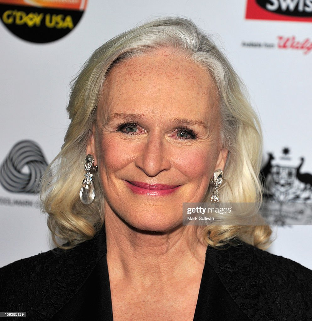Actress <a gi-track='captionPersonalityLinkClicked' href=/galleries/search?phrase=Glenn+Close&family=editorial&specificpeople=201870 ng-click='$event.stopPropagation()'>Glenn Close</a> arrives for the G'Day USA Black Tie Gala held at at the JW Marriot at LA Live on January 12, 2013 in Los Angeles, California.