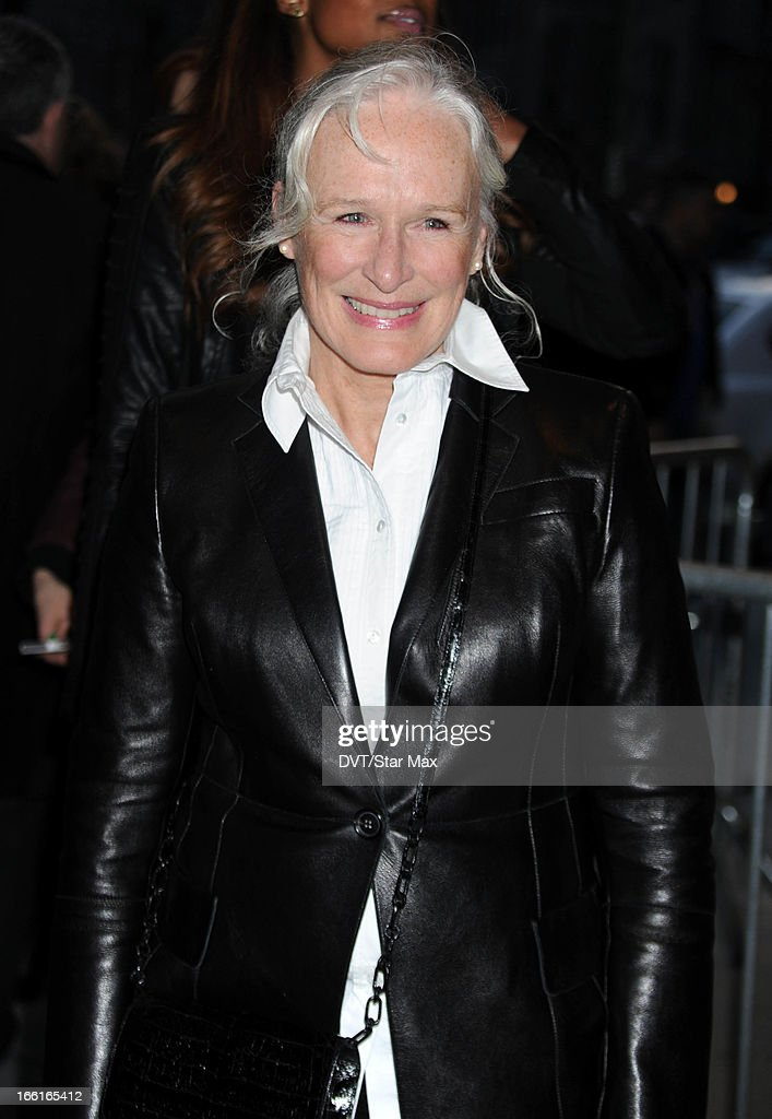 Actress Glenn Close as seen on April 8, 2013 in New York City.