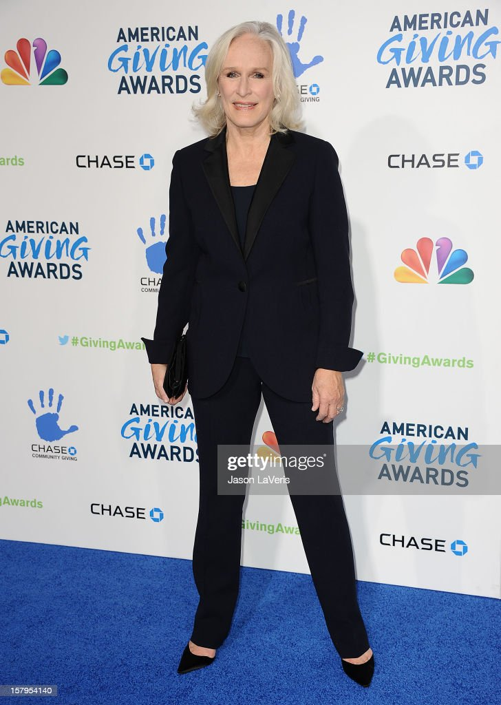 Actress <a gi-track='captionPersonalityLinkClicked' href=/galleries/search?phrase=Glenn+Close&family=editorial&specificpeople=201870 ng-click='$event.stopPropagation()'>Glenn Close</a> attends 2012 American Giving Awards at Pasadena Civic Auditorium on December 7, 2012 in Pasadena, California.