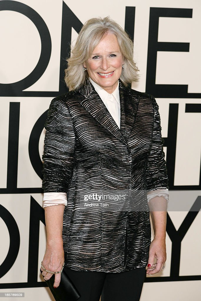 Actress <a gi-track='captionPersonalityLinkClicked' href=/galleries/search?phrase=Glenn+Close&family=editorial&specificpeople=201870 ng-click='$event.stopPropagation()'>Glenn Close</a> attends Giorgio Armani - One Night Only New York at SuperPier on October 24, 2013 in New York City.