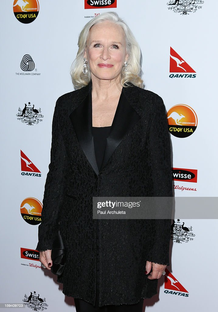 Actress Glenn Close attends the 2013 G'Day USA Los Angeles Black Tie Gala at JW Marriott Los Angeles at L.A. LIVE on January 12, 2013 in Los Angeles, California.