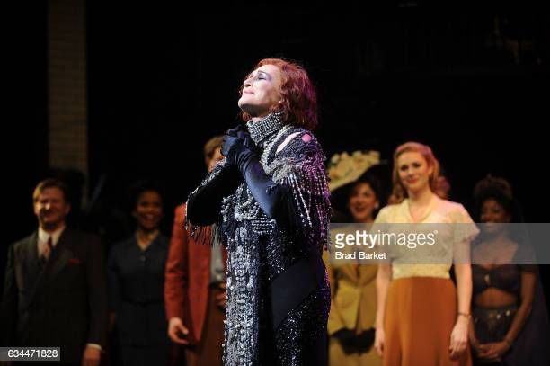 Actress Glenn Close attends the Curtain call at Andrew Lloyd Webber's SUNSET BOULEVARD Opens On Broadway Starring Glenn Close on February 9 2017 in...