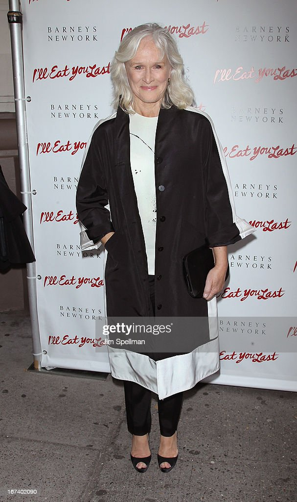 Actress Glenn Close attends the 'I'll Eat You Last' Broadway Opening Night at the Booth Theatre on April 24, 2013 in New York City.