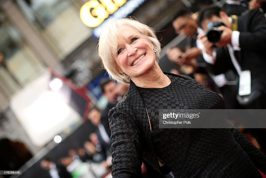Actress <a gi-track='captionPersonalityLinkClicked' href=/galleries/search?phrase=Glenn+Close&family=editorial&specificpeople=201870 ng-click='$event.stopPropagation()'>Glenn Close</a> attends the Oscars at Hollywood & Highland Center on March 2, 2014 in Hollywood, California.