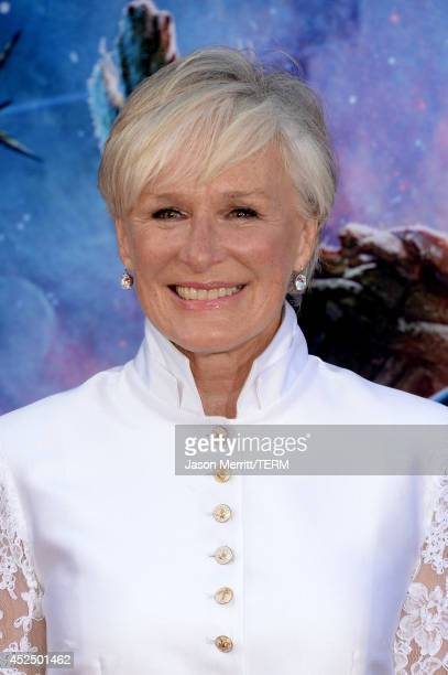 Actress Glenn Close attends the premiere of Marvel's 'Guardians Of The Galaxy' at the Dolby Theatre on July 21 2014 in Hollywood California
