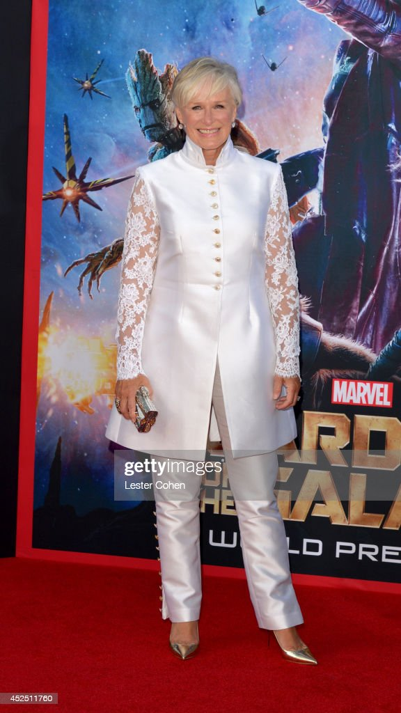 Actress <a gi-track='captionPersonalityLinkClicked' href=/galleries/search?phrase=Glenn+Close&family=editorial&specificpeople=201870 ng-click='$event.stopPropagation()'>Glenn Close</a> attends the premiere of Marvel's 'Guardians Of The Galaxy' at the El Capitan Theatre on July 21, 2014 in Hollywood, California.