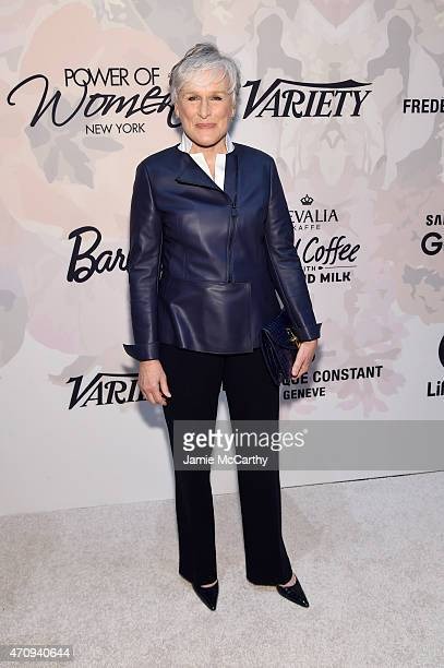 Actress Glenn Close attends Variety's Power of Women New York presented by Lifetime at Cipriani 42nd Street on April 24 2015 in New York City