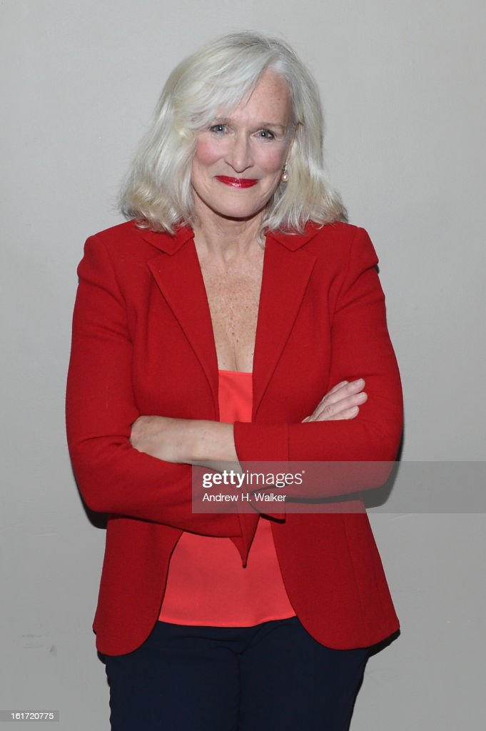 Actress <a gi-track='captionPersonalityLinkClicked' href=/galleries/search?phrase=Glenn+Close&family=editorial&specificpeople=201870 ng-click='$event.stopPropagation()'>Glenn Close</a> attends V-Day & One Billion Rising's RISE NYC at the Hammerstein Ballroom on February 14, 2013 in New York City.