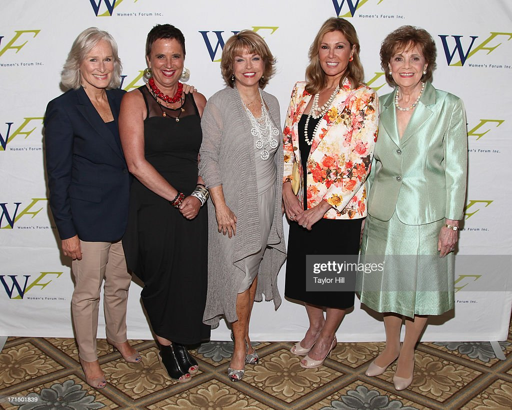 Actress Glenn Close playwright Eve Ensler Paley Center for Media president Pat Mitchell Producer Maria Cuomo Cole and Matilda Cuomo attend the 3rd...