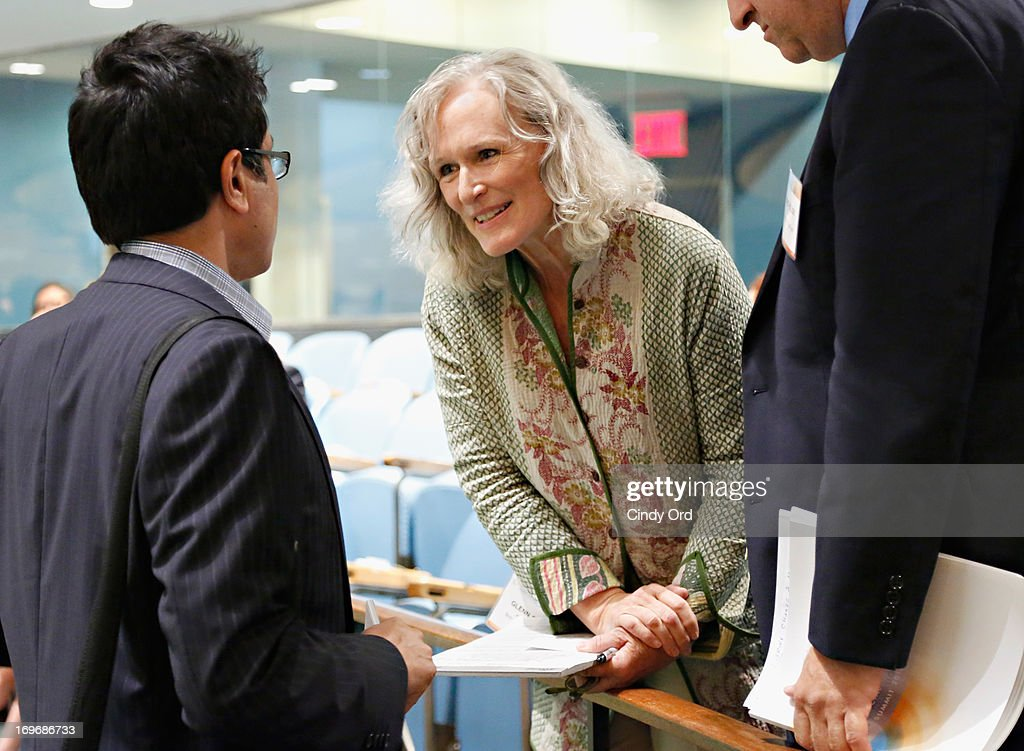 Actress <a gi-track='captionPersonalityLinkClicked' href=/galleries/search?phrase=Glenn+Close&family=editorial&specificpeople=201870 ng-click='$event.stopPropagation()'>Glenn Close</a> speaks to attendees at the Social Innovation Summit May 2013 - Day Two on May 30, 2013 in New York City.