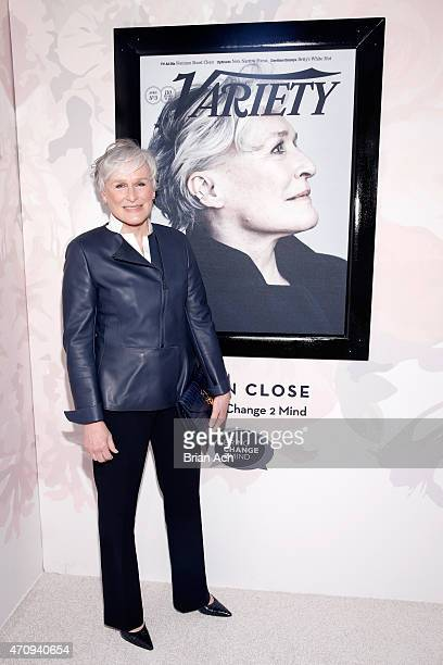 Actress Glenn Close Variety's Power of Women New York presented by Lifetime at Cipriani 42nd Street on April 24 2015 in New York City