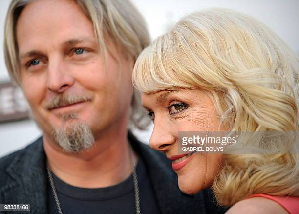 Actress Glenne Headly arrives with her husband Byron McCulloch at the premiere of 'The Joneses' in Hollywood California on April 8 2010 AFP PHOTO /...