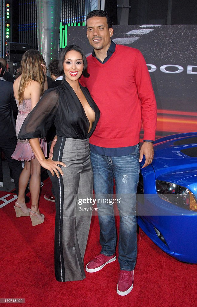 Actress <a gi-track='captionPersonalityLinkClicked' href=/galleries/search?phrase=Gloria+Govan&family=editorial&specificpeople=7070564 ng-click='$event.stopPropagation()'>Gloria Govan</a> (L) and professional basketball player <a gi-track='captionPersonalityLinkClicked' href=/galleries/search?phrase=Matt+Barnes+-+Basketball+Player&family=editorial&specificpeople=202880 ng-click='$event.stopPropagation()'>Matt Barnes</a> attend the premiere of 'Fast & Furious 6' at Universal CityWalk on May 21, 2013 in Universal City, California.