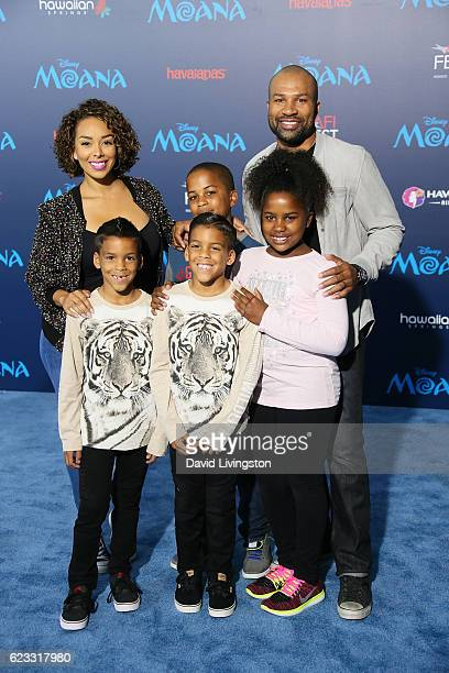 Actress Gloria Govan basketball coach Derek Fisher and family arrive at the AFI FEST 2016 presented by Audi premiere of Disney's 'Moana' held at the...