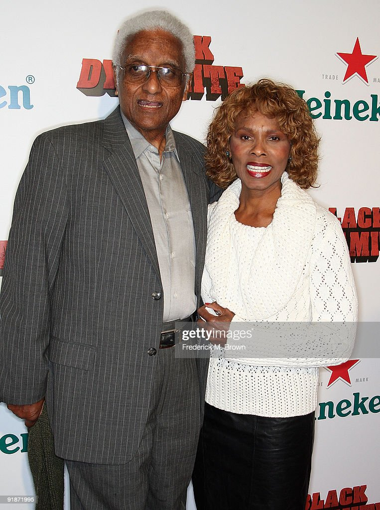 Actress Gloria Hendry (R) and her husband attend the 'Black Dynamite' film premiere at the Arclight Hollywood on October 13, 2009 in Hollywood, California.