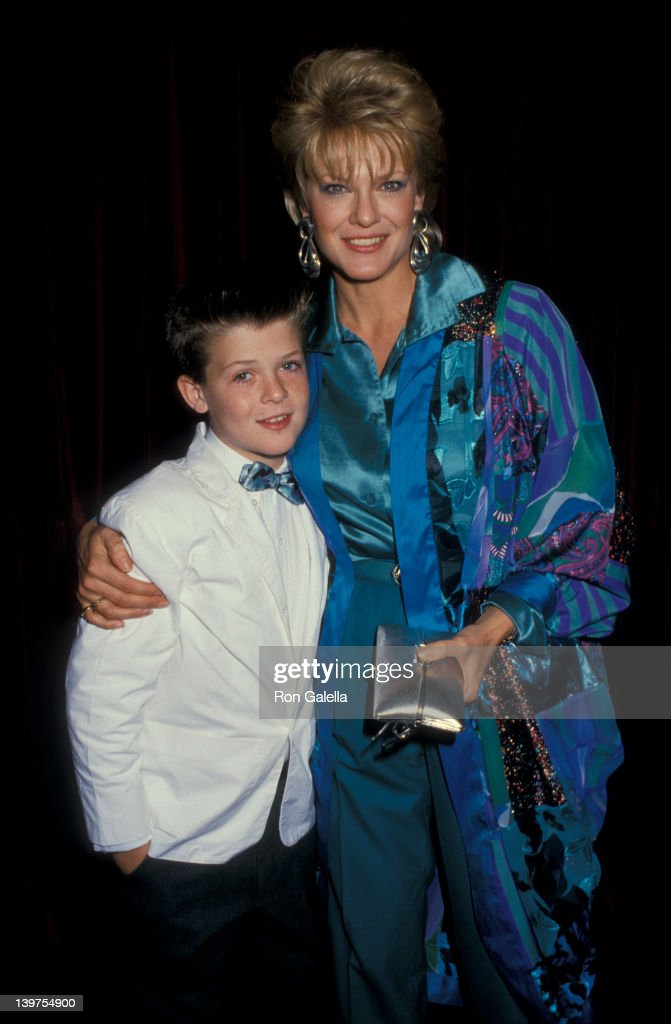 Actress Gloria Loring and son Brennan Thicke attending Nineth Annual Youth In Film Awards on December 5, 1987 at the Hollywood Palladium in Hollywood, California.