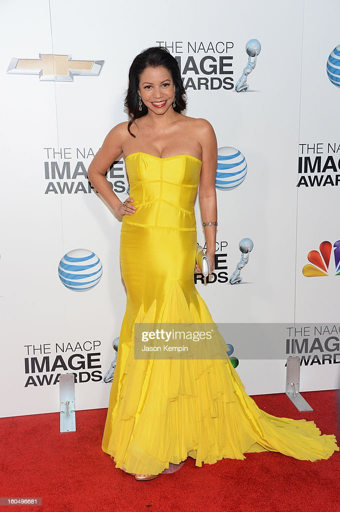 Actress Gloria Reuben arrives at the 44th NAACP Image Awards held at The Shrine Auditorium on February 1, 2013 in Los Angeles, California.