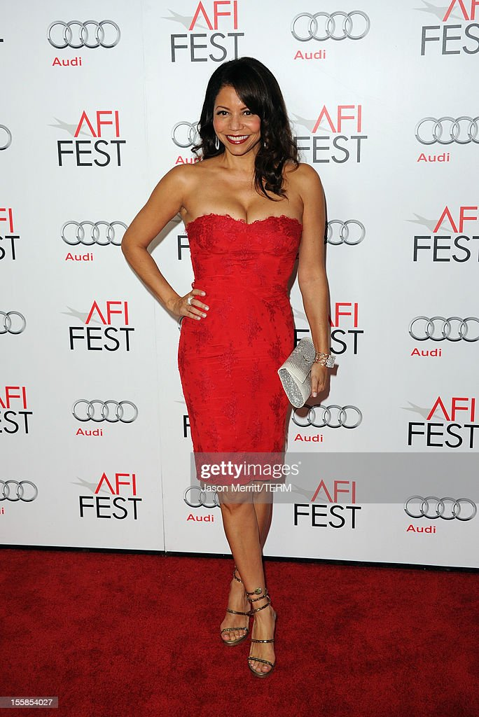 Actress Gloria Reuben arrives at the 'Lincoln' premiere during AFI Fest 2012 presented by Audi at Grauman's Chinese Theatre on November 8, 2012 in Hollywood, California.