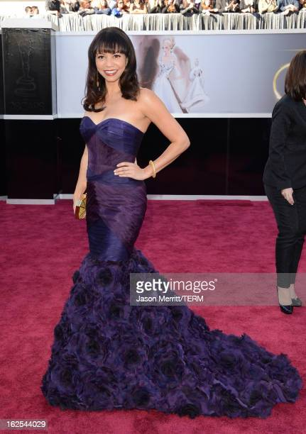 Actress Gloria Reuben arrives at the Oscars at Hollywood Highland Center on February 24 2013 in Hollywood California