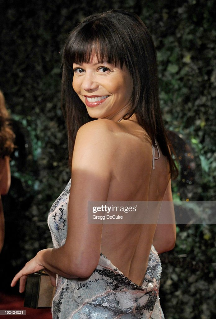 Actress Gloria Reuben arrives at the QVC 'Red Carpet Style' party at Four Seasons Hotel Los Angeles at Beverly Hills on February 22, 2013 in Beverly Hills, California.