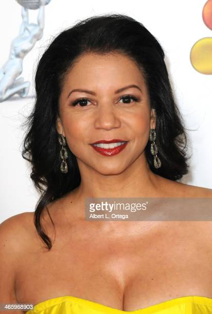 Actress Gloria Reuben arrives for the 44th NAACP Image Awards held at the Shrine Auditorium on February 1 2013 in Los Angeles California