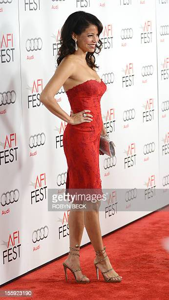 Actress Gloria Reuben arrives for the closing night Gala Screening of 'Lincoln' at the AFI Fest in Hollywood California November 8 2012 AFP PHOTO /...
