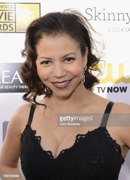 Actress Gloria Reuben attends the 18th Annual Critics' Choice Movie Awards held at Barker Hangar on January 10 2013 in Santa Monica California