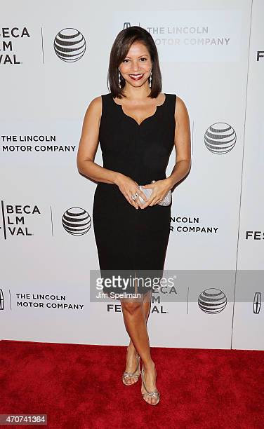 Actress Gloria Reuben attends the 2015 Tribeca Film Festival world premiere narrative 'Anesthesia' at BMCC Tribeca PAC on April 22 2015 in New York...