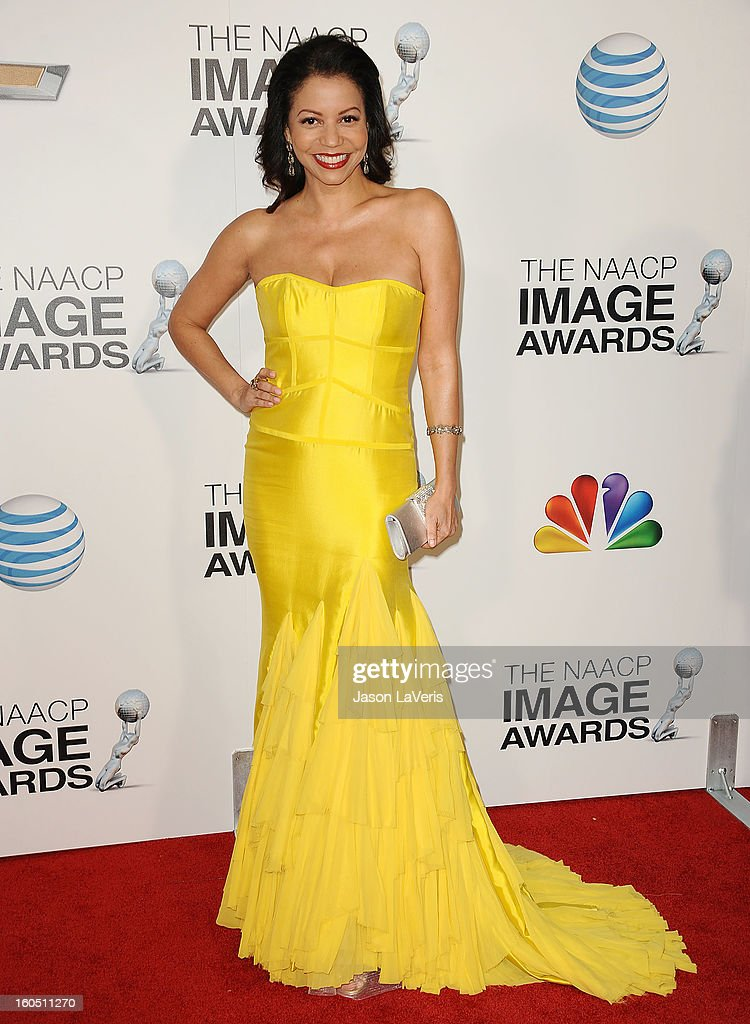 Actress Gloria Reuben attends the 44th NAACP Image Awards at The Shrine Auditorium on February 1 2013 in Los Angeles California