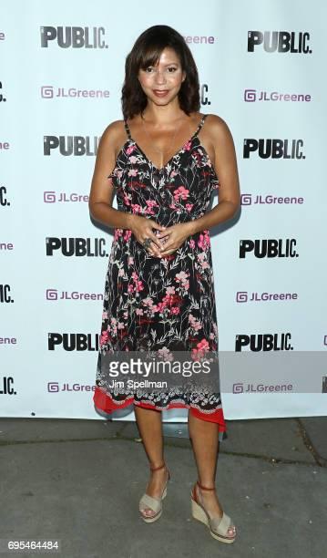 Actress Gloria Reuben attends the 'Julius Caesar' opening night at Delacorte Theater on June 12 2017 in New York City