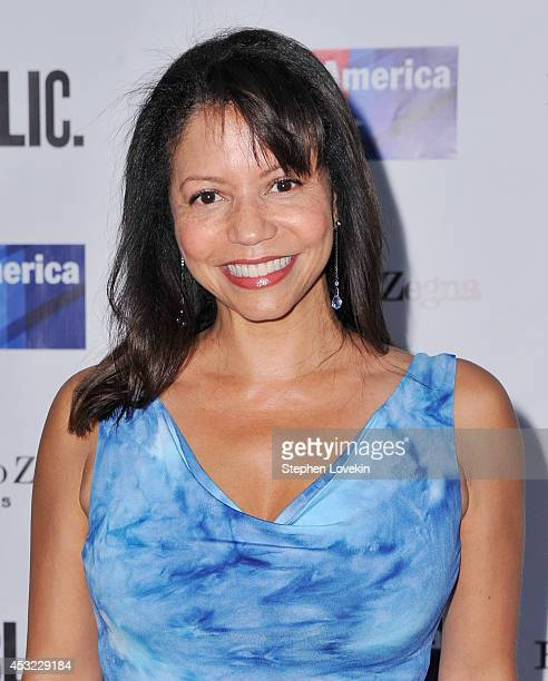 Actress Gloria Reuben attends The Public Theatre's Opening Night Performance of 'King Lear' at Delacorte Theater on August 5 2014 in New York City