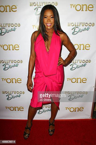 Actress Golden Brooks attends the premiere party for TV One's 'Hollywood Divas' at OHM Nightclub on October 7 2014 in Hollywood California