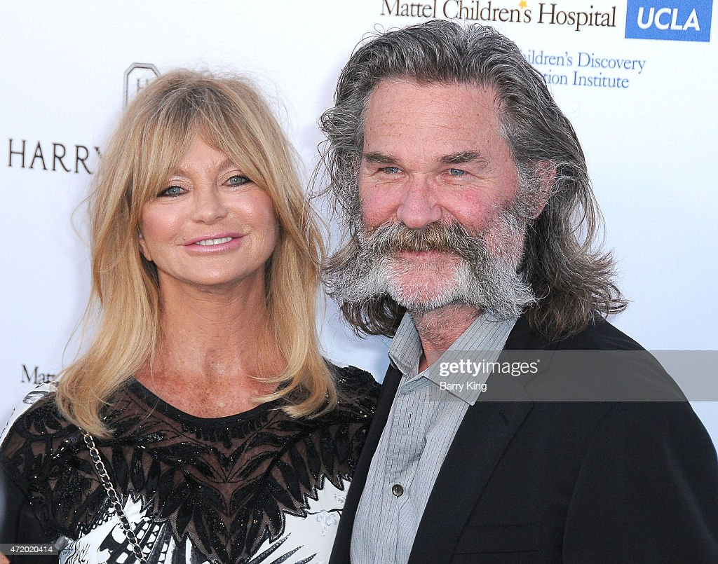 Actress Goldie Hawn and actor Kurt Russell arrive at Mattel Children's Hospital UCLA Kaleidoscope Ball at 3LABS on May 2, 2015 in Culver City, California.