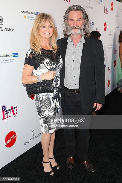 Actress Goldie Hawn and actor Kurt Russell attend the Mattel Children's Hospital UCLA Kaleidoscope Ball at 3LABS on May 2 2015 in Culver City...