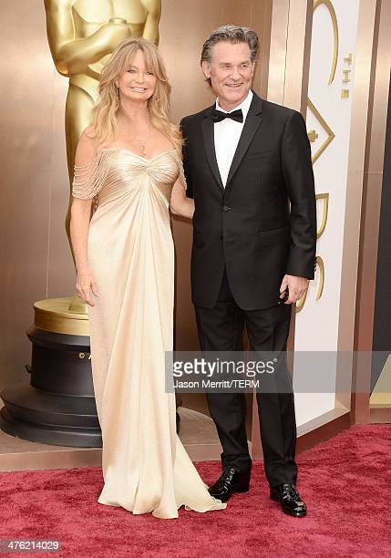Actress Goldie Hawn and actor Kurt Russell attend the Oscars held at Hollywood Highland Center on March 2 2014 in Hollywood California