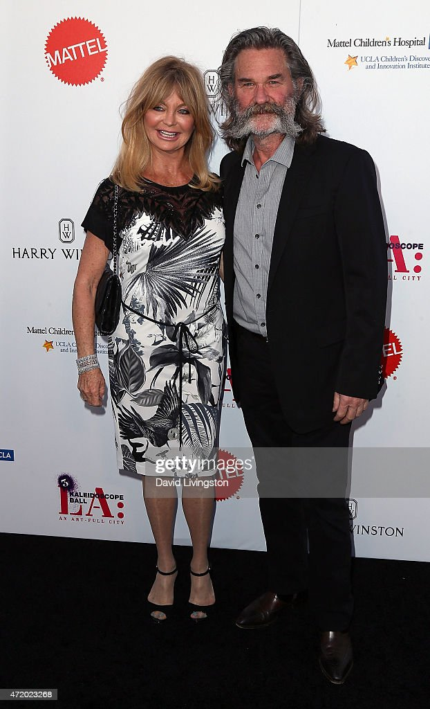 Actress Goldie Hawn (L) and husband actor Kurt Russell attend the Mattel Children's Hospital UCLA Kaleidoscope Ball at 3LABS on May 2, 2015 in Culver City, California.