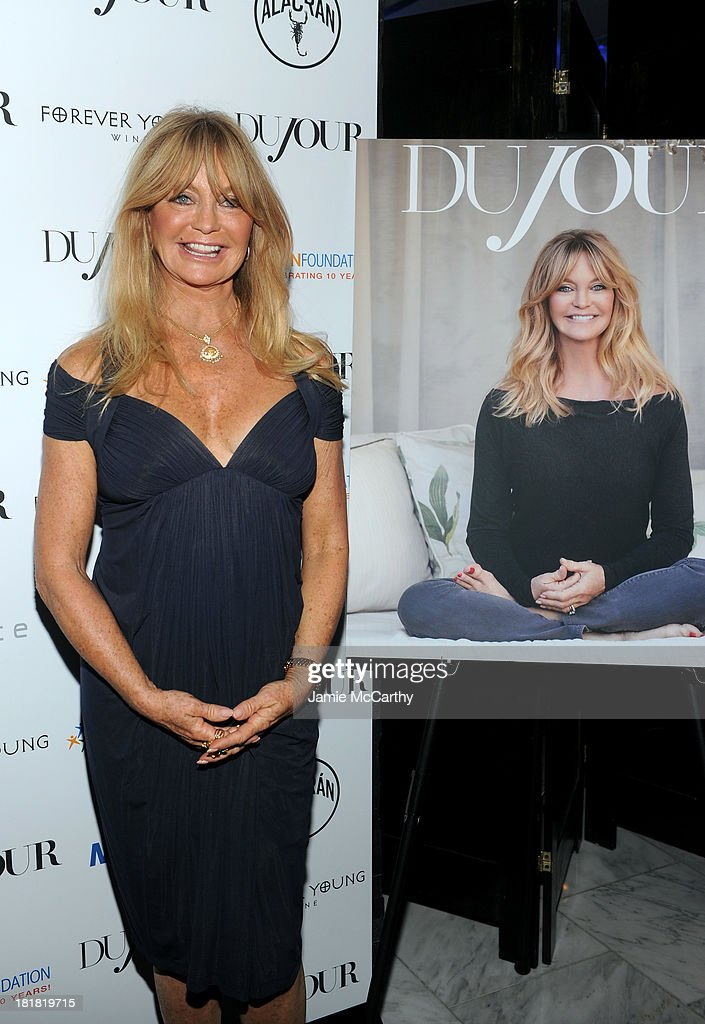 Actress Goldie Hawn attends DuJour's Jason Binn and Kurt Russell's celebration of Goldie Hawn and The Hawn Foundation at Espace on September 25, 2013 in New York City.