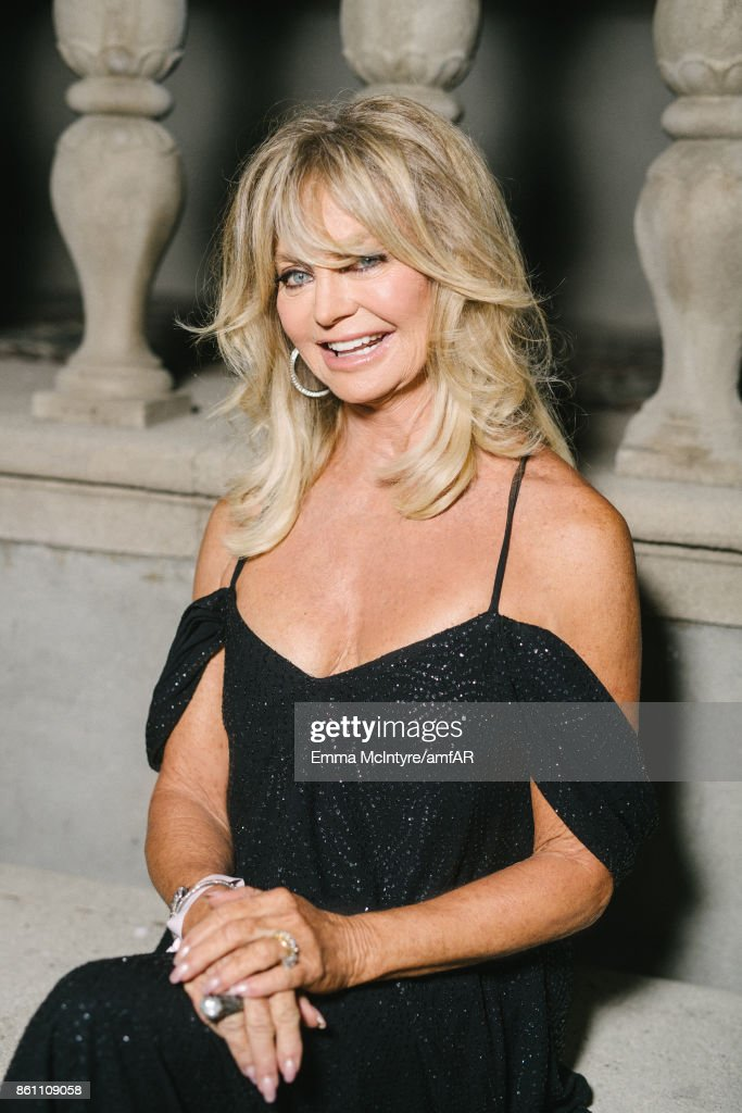Actress Goldie Hawn attends the amfAR Gala Los Angeles 2017 at Ron Burkle's Green Acres Estate on October 13, 2017 in Beverly Hills, California.