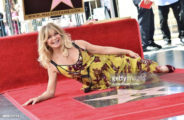 Actress Goldie Hawn attends the ceremony honoring her and Kurt Russell with double star ceremony on the Hollywood Walk of Fame on May 4 2017 in...