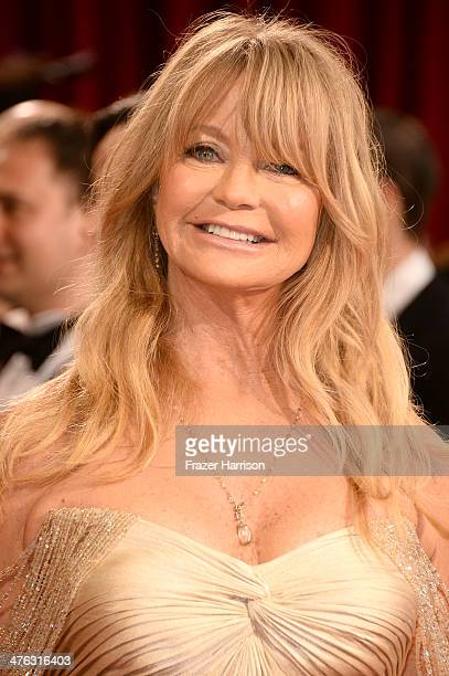 Actress Goldie Hawn attends the Oscars held at Hollywood Highland Center on March 2 2014 in Hollywood California
