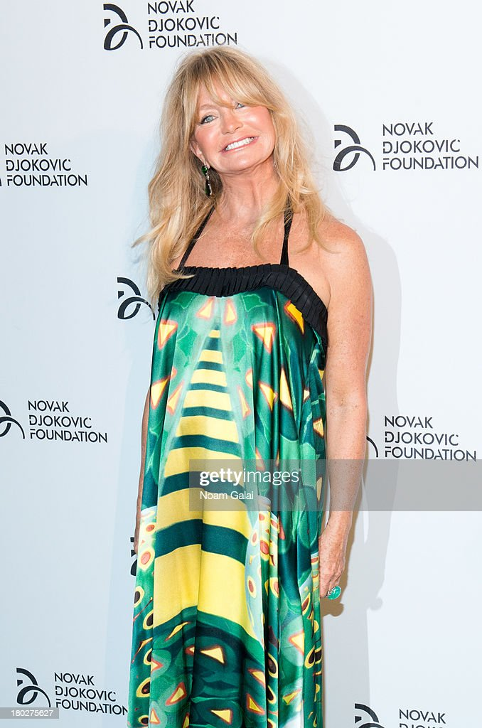 Actress Goldie Hawn attends the The 2013 Novak Djokovic Foundation Dinner at Capitale on September 10, 2013 in New York City.