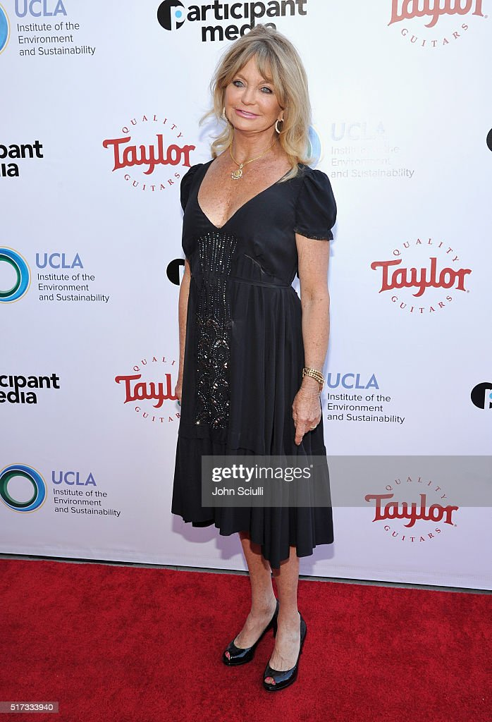 Actress Goldie Hawn attends UCLA Institute of the Environment and Sustainability annual Gala on March 24, 2016 in Beverly Hills, California.