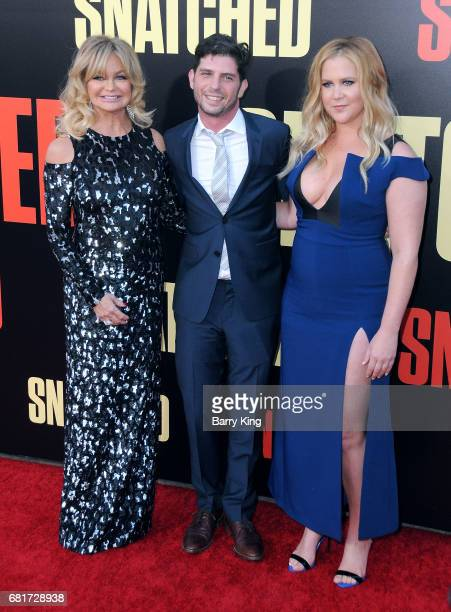 Actress Goldie Hawn director Jonathan Levine and actress/comedian Amy Schumer attend premiere of 20th Century Fox's' 'Snatched' at Regency Village...