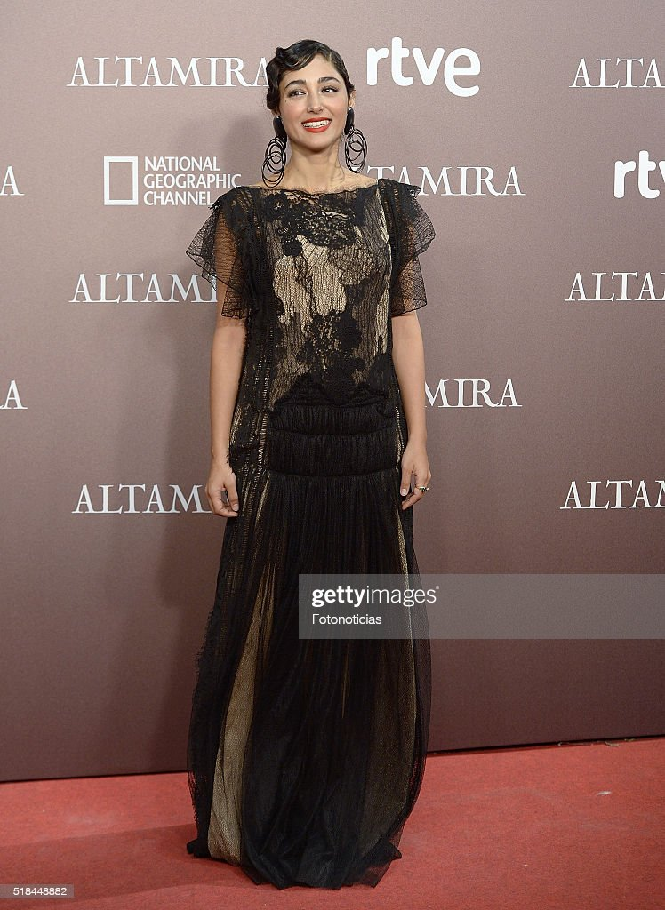 Actress <a gi-track='captionPersonalityLinkClicked' href=/galleries/search?phrase=Golshifteh+Farahani&family=editorial&specificpeople=5535488 ng-click='$event.stopPropagation()'>Golshifteh Farahani</a> attends the 'Altamira' premiere at Callao Cinema on March 31, 2016 in Madrid, Spain.