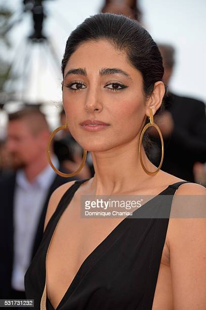 Actress Golshifteh Farahani leaves the 'Paterson' premiere during the 69th annual Cannes Film Festival at the Palais des Festivals on May 16 2016 in...