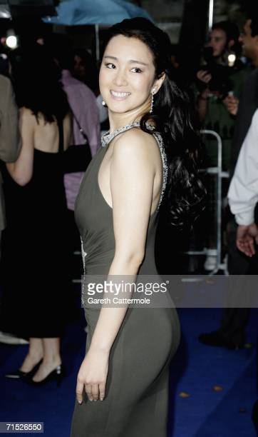 Actress Gong Li arrives at the European premiere of 'Miami Vice' held at the Odeon Leicester Square on July 27 2006 in London England