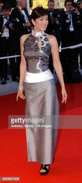 Actress Gong Li arrives at the screening for the movie 'MarieJoe et ses deux Amours' directed by Robert Guediguian at the 55th Cannes Film Festival