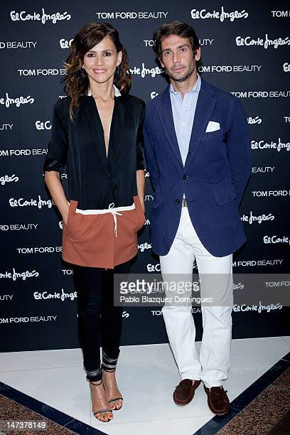 Actress Goya Toledo and Sebastian Palomo Danko attend 'Tom Ford Beauty' shop inauguration at El Corte Ingles on June 28 2012 in Madrid Spain
