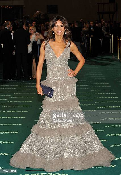 Actress Goya Toledo attends 22nd Goya Cinema Awards 2008 on February 03 2008 at Palacio Municipal de Congresos in Madrid Spain